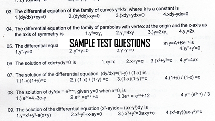 Sample Materials - Quality Test Questions - starwin.in