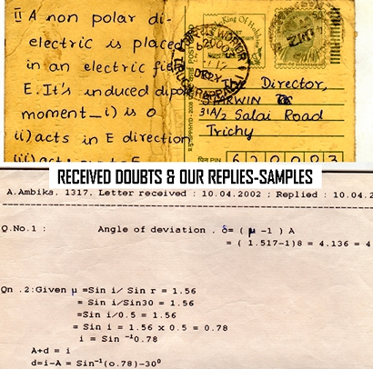 Sample Materials - How we clear the doubts of students? - starwin.in